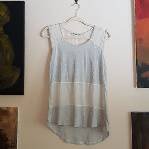 Michael Stars silk and jersey panel muscle tee